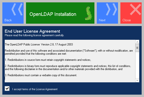 Openldap for Windows installation - maxcrc