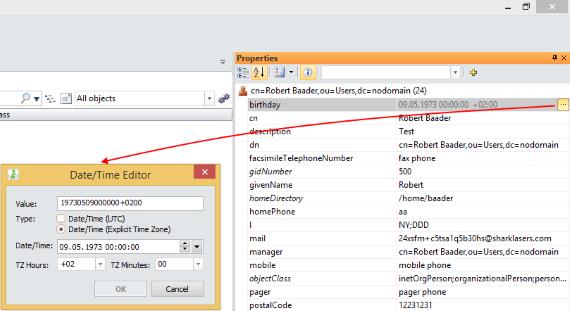 LDAP Generalized Time Editor